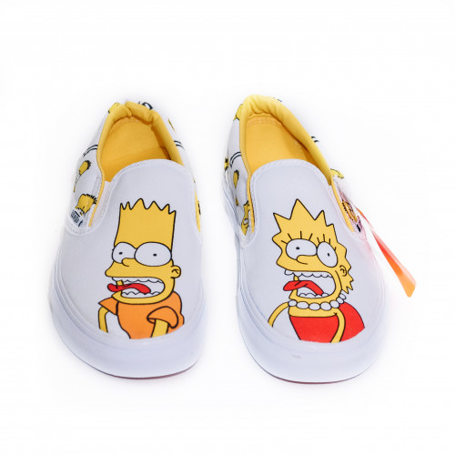 Vans Slip-on Simpsons Bart Lisa / White